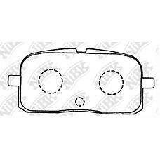NIBK PN1178 (0446618010 / 0446616010 / 0449210010) колодки тормозные дисковые