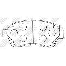 NIBK pn1228 (044 / 0449133040 / 0446533070) колодки тормозные дисковые non-turbo (передние) to altezza 98-03 aristo 91-97 avalon 95-97 brevis