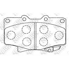 NIBK pn1242 (0446560020 / 0449160160 / 0449160150) колодки тормозные дисковые (передние) to hilux euro 2.4 / 2.5l 95- Land Cruiser (Ленд Крузер) / Land Cruiser (Ленд Крузер) prado 90
