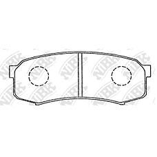 NIBK pn1243 (0446660010 / 0446660090 / 0446660020) колодки тормозные дисковые (задние) to 4runner 04-08 hilux 02-05 Land Cruiser (Ленд Крузер) 90-04 Land Cruiser (Ленд Крузер)