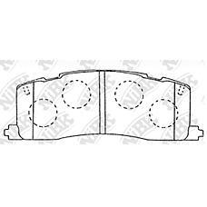 NIBK pn1274 (0449228020 / 0446628020 / 0446628010) колодки тормозные дисковые (задние) to estima cxr10g / 11g / 20g / 21g / tcr20g / w / 21w 93-95 cxr11g / 21g 94-9