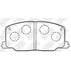NIBK PN1281 (0449112422 / 0449112440 / 0449120390) колодки тормозные дисковые