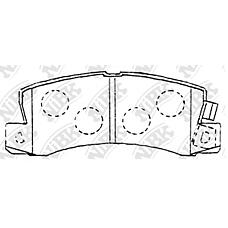 NIBK pn1321 (0446620020 / 0449220010 / 0446632010) колодки тормозные дисковые (задние) to Avensis (Авенсис) caldina Camry (Камри) / vista Carina (Карина) Carina (Карина) e Carina (Карина) ed c
