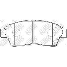 NIBK PN1322 (0446505010 / 0446542011 / 0446512540) колодки дисковые п.\ Toyota (Тойота) Camry (Камри) 2.2 92-96 / Corolla (Корола) 95-02