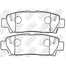 NIBK pn1323 (0446607020 / 0446607010 / 0449207010) колодки тормозные дисковые (задние) to avalon 3.0l mcx10 95-00 comfort gs151 / h 95- crown ls / gs151 /