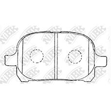 NIBK pn1401 (0446533130 / 0446533180 / 0446528410) колодки тормозные дисковые (передние) to avalon Camry (Камри) gaia Camry (Камри) gracia harrier ipsum mark2 qu