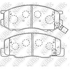 NIBK pn1404 (0446528350 / 0446528340 / 0446528380) колодки тормозные дисковые (передние) to estima liteace / townace noah liteace Picnic (Пикник) ipsum preiv