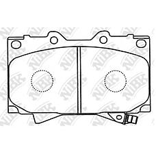 NIBK pn1411 (0446560150 / 0446560120 / 0446560240) колодки тормозные дисковые (передние) to Land Cruiser (Ленд Крузер) hzj71v / 74k(v) / 76k(v) / 77 / 79 99-04 hzj70 / 73 99-