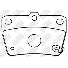 NIBK pn1424 (0446642020 / 0446642030 / 0446642050) колодки тормозные дисковые (задние) to rav4 zca26w / aca2w 00-05 sxa10w 15 96-00 geely mk 15 1.5l