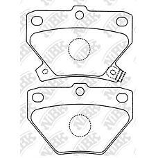 NIBK pn1454 (0446652010 / 0446652030 / 0446652020) колодки тормозные дисковые (задние) to Celica (Селика) Corolla (Корола) Corolla (Корола) fielder ist Prius (Приус) vitz voliz wi
