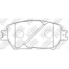 NIBK pn1479 (0446533240 / 0446533260 / 0446533250) колодки тормозные дисковые (передние) to Camry (Камри) aca31 / acv31 / acv35 / acv30 01-06 mvc30 01- Camry (Камри) se / le