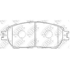 NIBK pn1480 (0446533270 / 0446533280 / 0446508030) колодки тормозные дисковые (передние) to alphard mnh10 / anh10w / 15w / mnh10w / 15w 02-08  avalon 3.5l 06-