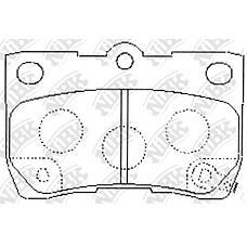 NIBK pn1494 (0446622190 / 0446653010 / 0446630240) колодки тормозные дисковые (задние) to crown grs180 / 181 / 182 / 183 03-08 grs200 / 201 / 202 / 203 / 204 / gws204