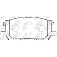 NIBK pn1497 (0446548080 / 0446548100 / 044650W070) колодки тормозные дисковые (передние) to harrier acu30w / 35w / mcu30w / 31w / 36w / 35w 03-06 mcu38w 05-09