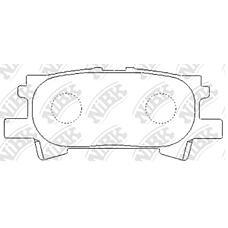 NIBK pn1498 (0446648030 / 0446648040 / 0446648060) колодки тормозные дисковые (задние) to harrier 2.4l acu30w / 35w 03- 3.3l 05-09 3.0l mcu30w / 31w / 35w /