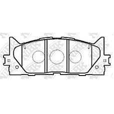 NIBK pn1521 (0446533450 / 0446533440 / 0446506080) колодки тормозные дисковые (передние) da altis 2.4l acv45 / 40n 06- to Camry (Камри) / vista 2.4l acv40 / 45 06-
