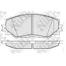 NIBK pn1524 (0446542160 / 0446502220 / 0446502170) колодки тормозные дисковые (передние) to allion 1.8 / 2.0l 08- auris nze151h / 154 / zre152h / zre154 06-