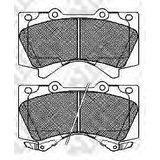 NIBK pn1541 (0446560280 / 044650C020 / 0446560300) колодки тормозные дисковые (передние) to Land Cruiser (Ленд Крузер) 4.7l uzj / vdj / grj200 07- 4.0 / 4.5 / 4.7 / 5.7l 17