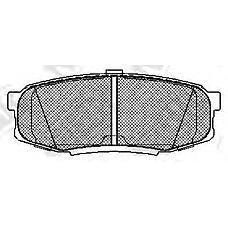 NIBK pn1542 (0446660120 / 044660C010 / 0446660160) колодки тормозные дисковые (задние) to Land Cruiser (Ленд Крузер) 4.7l uzj / grj / vdj200 07- 4.0 / 4.5 / 4.7 / 5.7l 17 uz