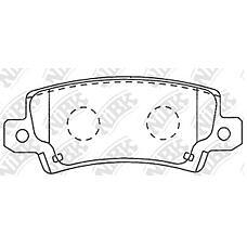 NIBK pn1827 (0446602070 / 0446602020 / 0446602160) колодки тормозные дисковые (задние) to Corolla (Корола) euro 1.4 / 1.6 / 1.8 / 2.0l 02-07 Corolla (Корола) zze123 01-06 cd