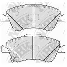 NIBK pn1834 (0446502170 / GJYF3323ZB / 0446502200) колодки тормозные дисковые (передние) to Corolla (Корола) 1.6 / 2.0l 07- auris 1.4 / 1.6l 07- 1.8 / 2.2l zre154h