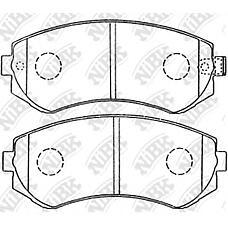 NIBK pn2199 (44060VB190 / 410603N390 / 410602N290) колодки тормозные дисковые (передние) ni 200sx 94-99 Almera (Альмера) / Almera (Альмера) tino 97-99 cefiro 88-94 laurel
