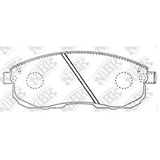NIBK pn2201 (4106040U90 / D1060EM10A / 4106089E90) колодки тормозные дисковые (передние) ni tIIda latio 1.6 / 1.8l c11x / sc11x 07- cube 1.6l z12 10- 180