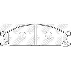 NIBK pn2344 (41060V7090 / 4106023C93 / 4106008N90) колодки тормозные дисковые (передние) ni atlas 92-04 caravan homy 86-01 cedric / gloria 85-02 cima