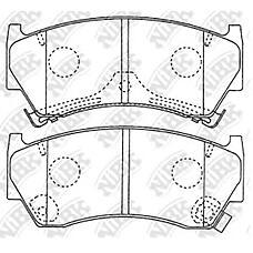 NIBK pn2356 (410601N090 / 410601N060 / 410601N890) колодки тормозные дисковые (передние) ni ad / ad van 96-99 Almera (Альмера) / Almera (Альмера) tino 95-99 cube 99-00 hype