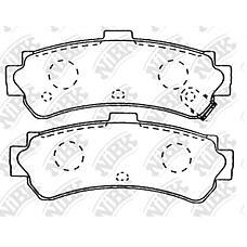 NIBK PN2357 (440600M890 / AY060NS014 / 440600M892) колодки дисковые з.\ Nissan (Ниссан) Almera (Альмера) 1.4 / 1.6 / 2.0d 95-00 / 200sx 2.0 16v 93>