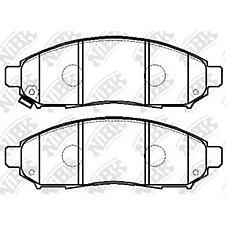 NIBK pn2517 (41060EB326 / 41060EA025 / DA060EB326) колодки тормозные дисковые (передние) ni serena 2.0l c25 / nc23 05-06 2.0l cc25 / cnc25 06- vanette se