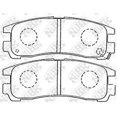 NIBK pn3174 (MB857336 / MR389578 / MB534653) колодки тормозные дисковые (задние) mi chariot 91-97 debonair 86-92 diamante 90-05 Eclipse (Эклипс) d32a / d