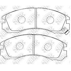 NIBK pn3233 (MB858400 / MB928049 / MR129104) колодки тормозные дисковые (передние) mi airtrek / Outlander (Аутлендер) 02-05 challenger 96-01 chariot 91-97 d