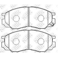 NIBK pn3369 (MR389547 / MR389550 / MR205256) колодки тормозные дисковые (передние) mi delica p02t / 13t / a3v / 15t / 05t / a5v / a5w / 25t / b5v / b5w / d5w / b6w 94-