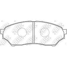 NIBK pn3417 (MR475453 / MN102615 / MR334950) колодки тормозные дисковые (передние) mi Pajero (Паджеро) io h57a 96-98 h66w / 76w 98-00 h61w / 71w 99-00 h62w /