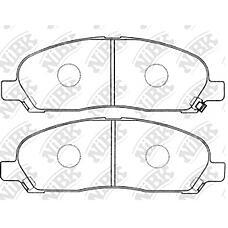 NIBK pn3419 (MR407127 / AN650WK / AY040MT011) колодки тормозные дисковые (передние) to harrier 3.3l 05-09 mi rvr n64w / 74w / 61w / 71w 97-02 n73wg 97