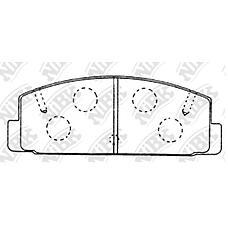 NIBK pn5203 (GGYM2643Z / GEYC2643ZA / GJYB2643Z) колодки тормозные дисковые (задние) fo Fusion (Фюжин) 17 2.0 / 2.5 / 3.0l 08-09 mz 6 estate / wagon 1.8 / 2.0 / 2.3l