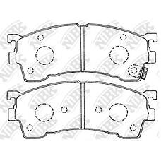 NIBK pn5239 (GAYR3323ZA / G5Y63323Z / GCYD3323Z) колодки тормозные дисковые (передние) mz 323 bj 98-03 626 / coupe 91-02 capella 91-02 clef 92-94