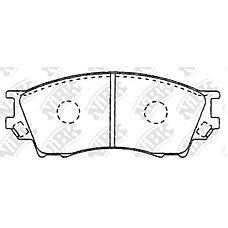 NIBK pn5334 (TA013323Z / TBY73323Z / TBY73328Z) колодки тормозные дисковые (передние) mz eunos 800 2.5l ta12 93-98 millenia 2.0l tafp 98-02  ta3 2