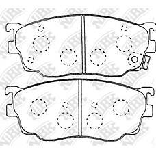 NIBK pn5418 (CBY43323Z / G1YN3323Z / G1YN3328Z) колодки тормозные дисковые (передние) mz 323 bj14 00-03 626 97-02 capella 97-20 premacy 01- prot