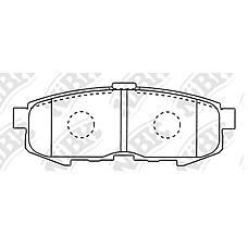 NIBK PN5807 (LEY42643ZA / LEY42648ZA / LEY42643Z) колодки дисковые з.\ Mazda (Мазда) mpv II 2.3i / 3.0i / 2.0di 02>