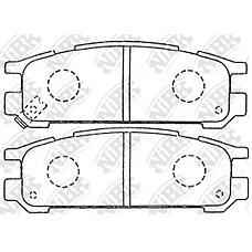 NIBK pn7249 (26296AA062 / 26296AA060 / 26296AA061) колодки тормозные дисковые (задние) sb alcyone 3.3l 91-96 Impreza (Импреза) 1.5 / 1.6 / 1.8 / 2.0l 92-02 Legacy (Легаси) 1.