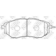 NIBK pn7499 (26296AG050 / 26296AG030 / 26296AG000) колодки тормозные дисковые (передние) sb Legacy (Легаси) bm9 / br9 / brf 09- bpe / bl5 / ble / bp5 03-06 bl9 / bp9 / bph /
