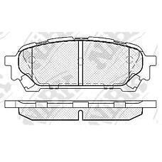 NIBK pn7801 (26696FE050 / 26696FE040 / 32006220) колодки тормозные дисковые (задние) sb Impreza (Импреза) 1.5l 04-06 Forester (Форестер) 2.0l sh 05- Impreza (Импреза) usa 2.0l 04