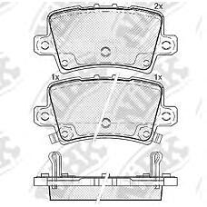 NIBK pn8867 (43022SMGE01 / 43022SMGE00 / 43022SMGE02) колодки тормозные дисковые (задние) ho Civic (Цивик) 1.3 / 1.4 / 1.6 / 1.8 / 2.0 / 2.2l 06-