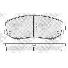 NIBK pn9802 (5520065J11 / 5520065J00 / 5520065J10) колодки тормозные дисковые (передние) sz eScudo (Скудо) 1.6 / 2.0 / 2.7l td94w / td54 05- ta74w 06- 2.4 / 3.2l tda