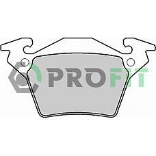 PROFIT 5000-1305 (0034200220 / 0004214210 / A0034200220) колодки тормозные дисковые зад mb v-klasse