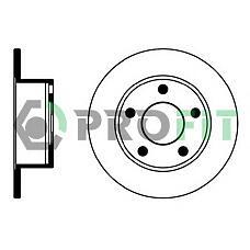 PROFIT 5010-0321 (4A0615601A / 8E0615601 / 4A0615301A) диск тормозной задний Audi (Ауди) a100 91>94 a6 95>05 VW Passat (Пассат) 97>05 245x10mm