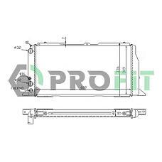 PROFIT PR0012A2 (4A0121251R) радиатор охлаждения двигателя Audi (Ауди) 100. a6 (2.6l, 2.8l) 90-97 (акпп) (+ / -a / c)