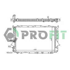 PROFIT PR0014A4 (4A0121251) радиатор охлаждения двигателя Audi (Ауди) 100 90-94 (мкпп) (-a / c)